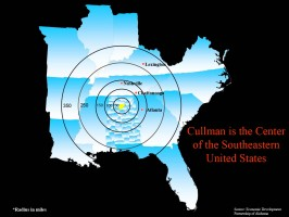 Cullman is the Center of the Southeastern US