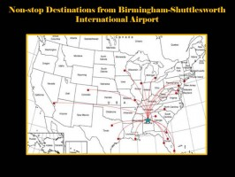 Non-Stop Flights from Birmingham, AL